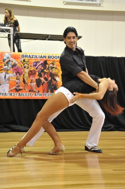 Juan and Samantha bachata dip