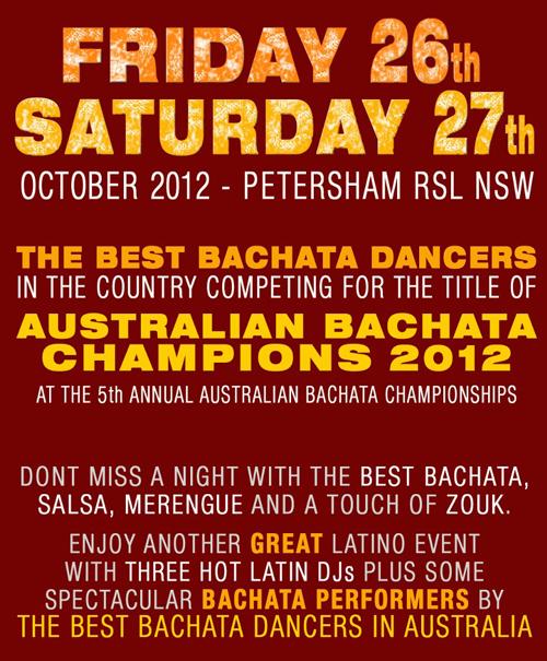 AUSTRALIAN BACHATA CHAMPIONSHIPS 2012